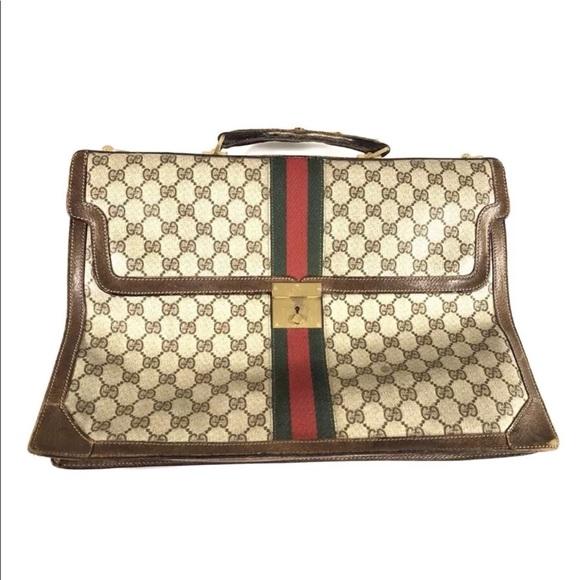 c40c3a948e8 Gucci Handbags - Gucci Rare Vintage 1970 s Briefcase